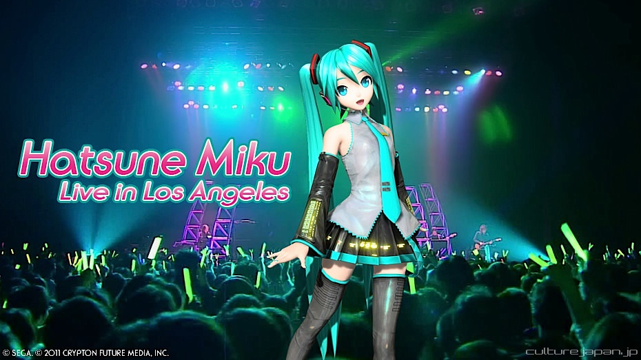 hatsune miku poster for a live concert