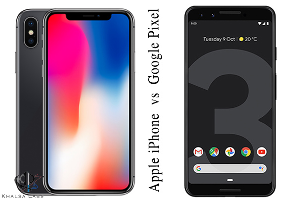 Battle Between Apple iPhone X and Google Pixel 3
